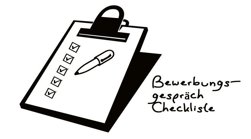 Männerreich Bewerbungsgespräch Checkliste