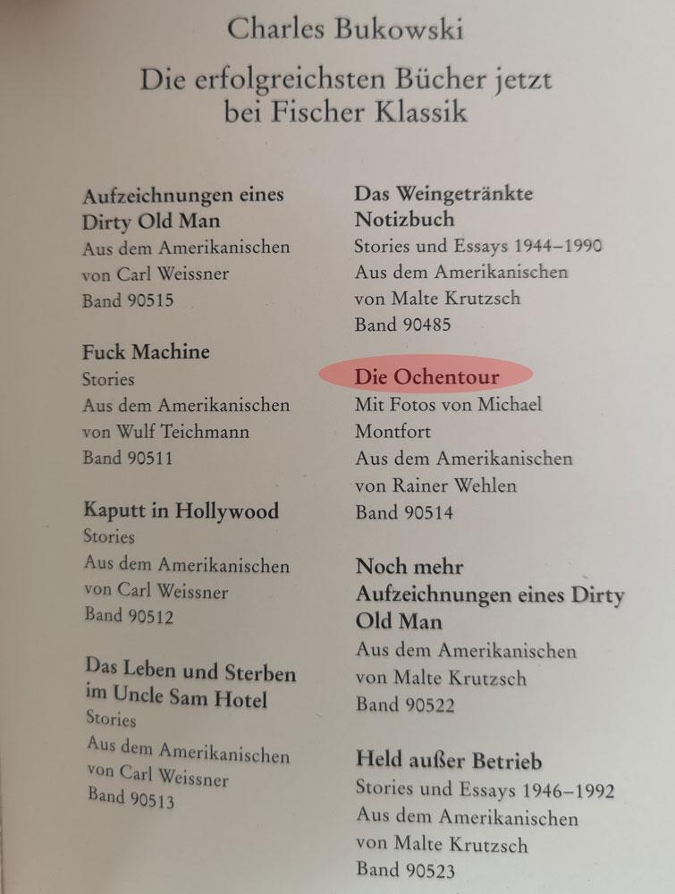 Männerreich Fischer Verlag Charles Bukowski Fehler
